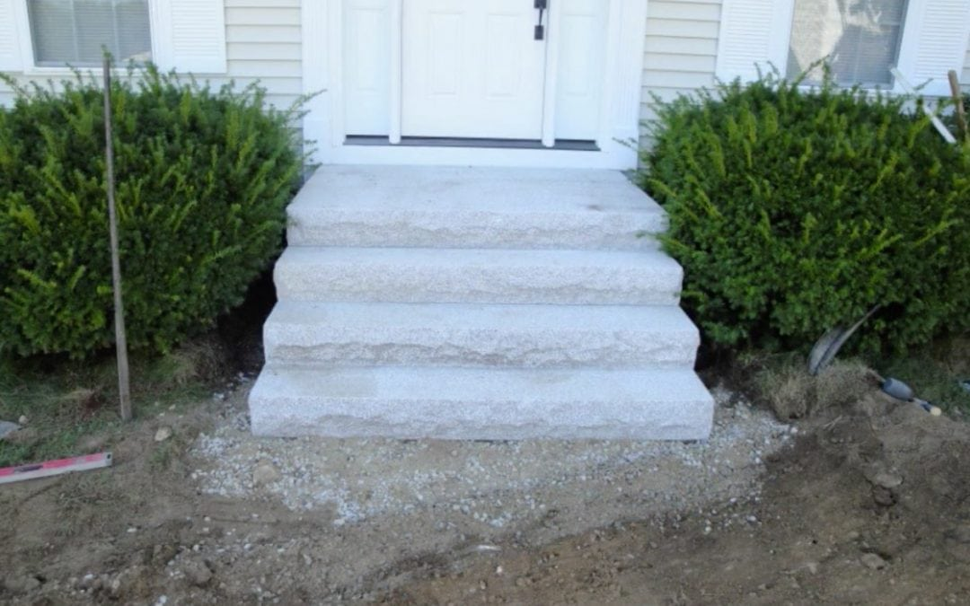GRANITE PAD AND STEP INSTALLATION