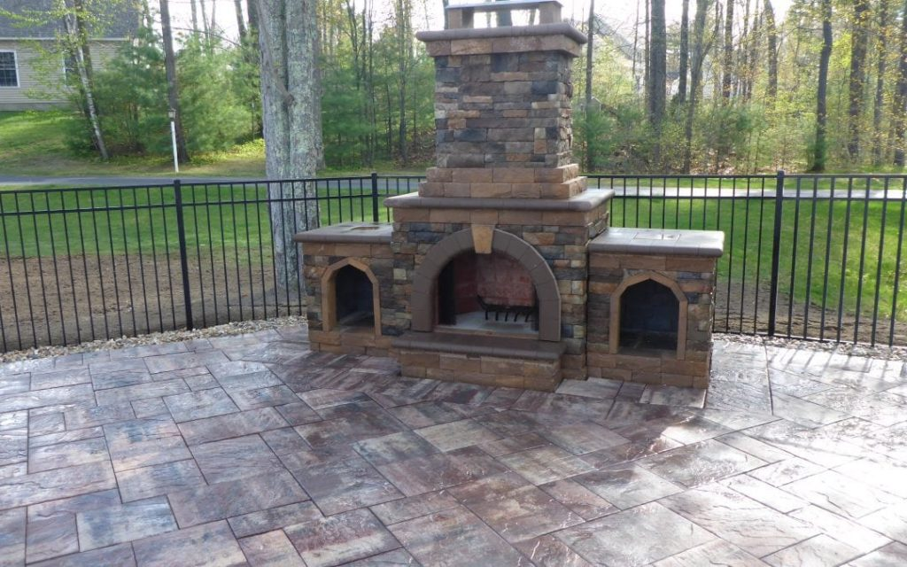 Outdoor Fireplace, Windham NH